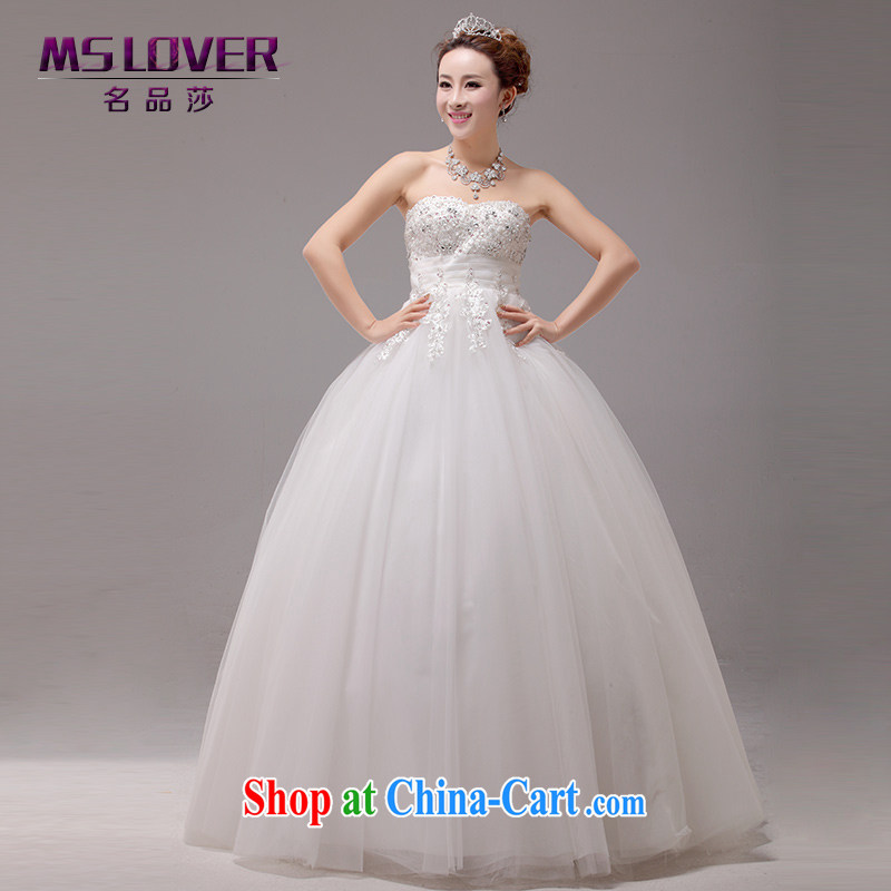 MSLover Sophie the US high-waist lace Princess bride video thin beauty wiped his chest to tie wedding pregnant wedding 2262 m White tailored