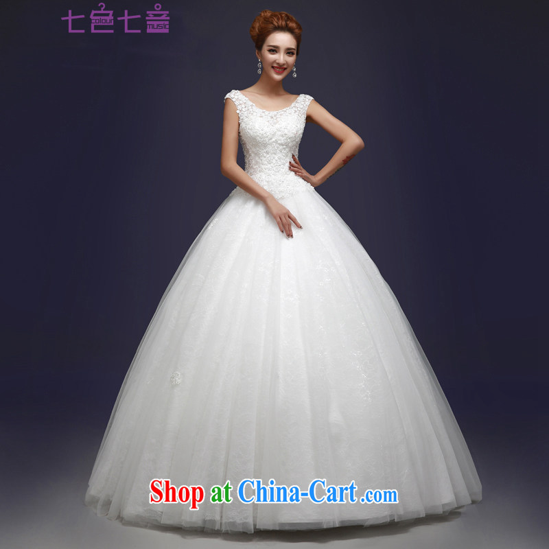 7-Color 7 tone Korean version 2015 bride's shoulders new with graphics thin large code binding with white hunsha wedding H 056 white XL