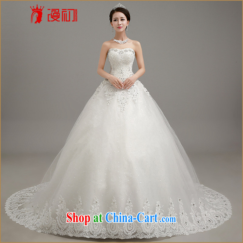 Early definition 2015 wedding dresses Korean wiped chest graphics thin tail wedding dresses with straps shaggy dress wedding large white tail. Contact customer service