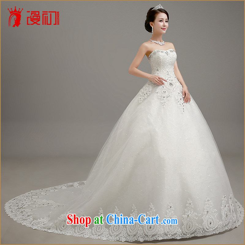 Early definition 2015 wedding dresses Korean wiped his chest graphics thin-tail wedding dresses with straps shaggy dress wedding large white tail. Contact customer service, early definition, shopping on the Internet