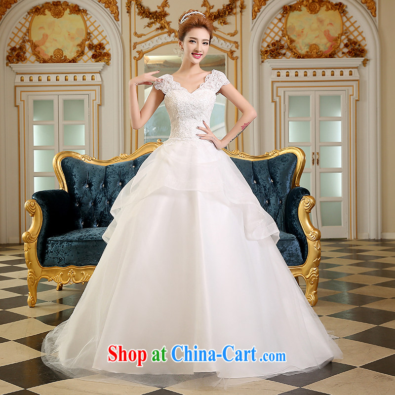 Qi wei wedding dresses 2015 new summer new Wedding Video thin bridal tail wedding deep V stylish Korean tail with white XXL