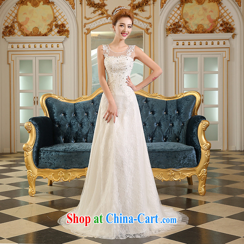 Wei Qi crowsfoot wedding dresses new, summer 2015 new tail Korean fashion wiped his chest bridal lace wedding tie the code M