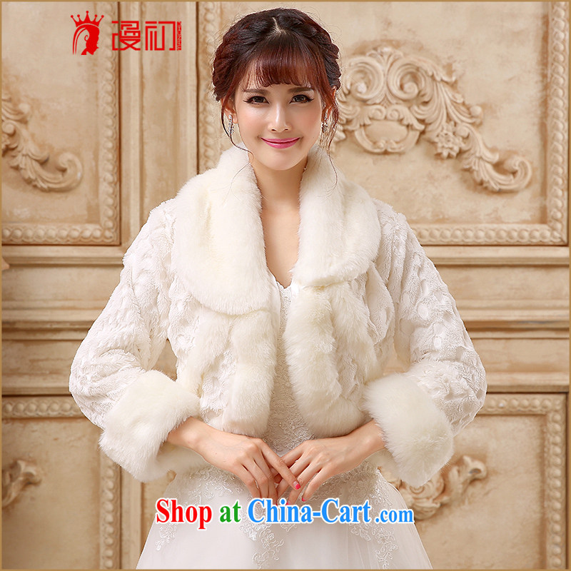 Early definition 2015 bridal wedding shawls winter wedding small, shoulder winter wedding warm jacket high emulation rabbit hair shawl white are code