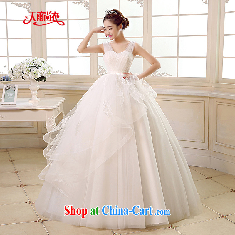 Rain is still clothing bridal wedding dresses 2015 new wedding dress white Princess shoulders and stylish upmarket graphics thin large code staples Pearl with wedding HS 891 white XXL