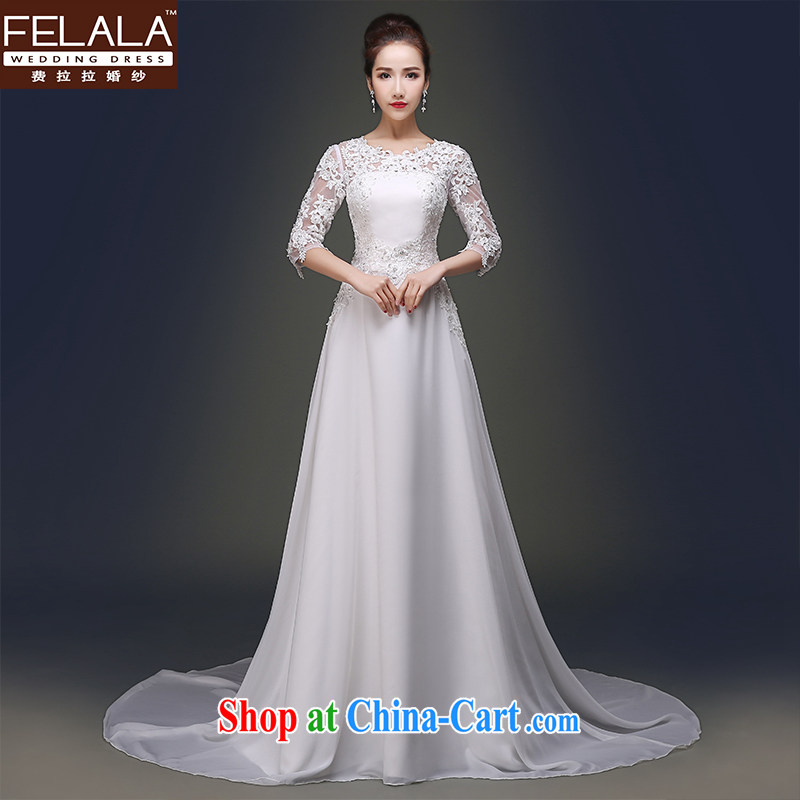 Ferrara stars with wedding dresses 2015 new fall in love with the template _Spring_Summer fashion, Japan, and South Korea video thin wedding dress L _2 feet 1_