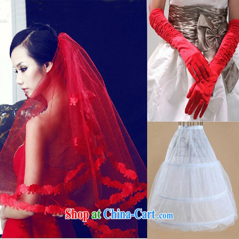 3 Piece Set ~ wedding and legal fine lace red head yarn bridal head yarn HJT - 0001