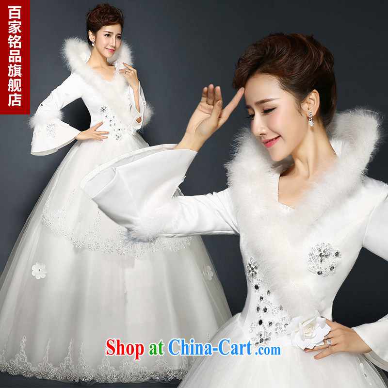 Wedding winter, 2015 new stylish winter, quilted bridal long-sleeved parquet drill double zip for gross Wedding Video thin larger wedding thick winter New Product Promotions white Custom Size 7 day shipping