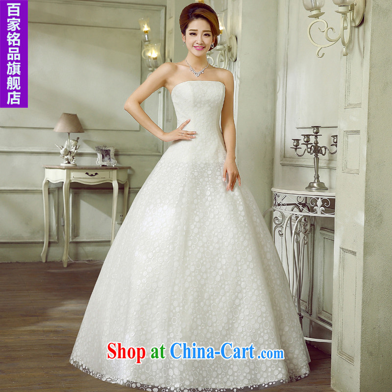 Wedding marriage with 2015 new parquet drill Korean version wiped off chest-waist graphics thin A field white dress with tie shaggy dress wedding dresses, discount package mail white Custom size 7 day shipping
