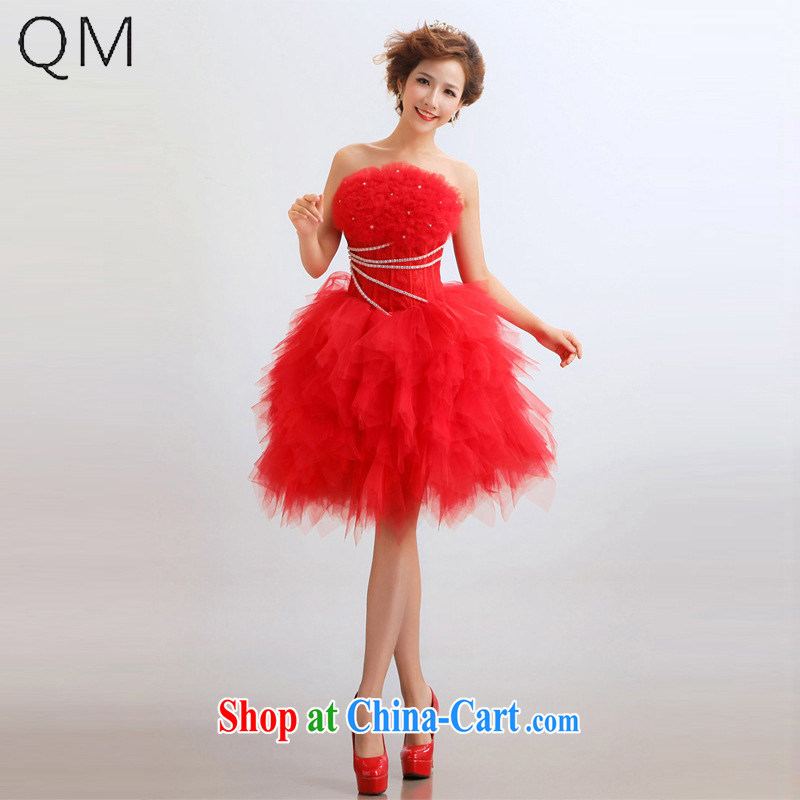 Light (at the end) QM short multi-color marriages wedding dresses show service CTX LF 67 red XXL