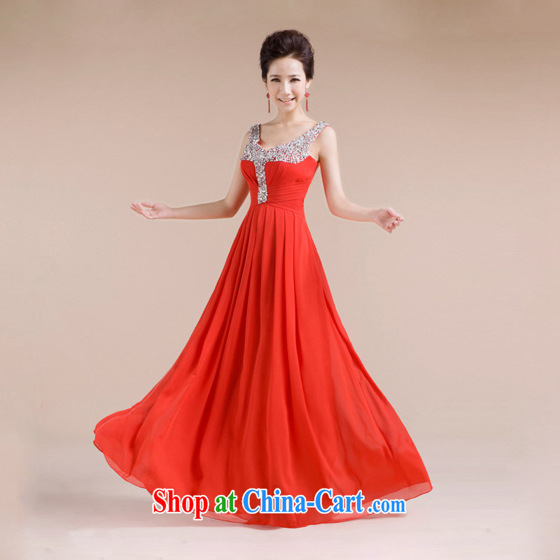 Light (at the end QM) Wedding bridal wedding dress evening gown toasting service CTX LF - 1005 red XXL, shallow end, shopping on the Internet