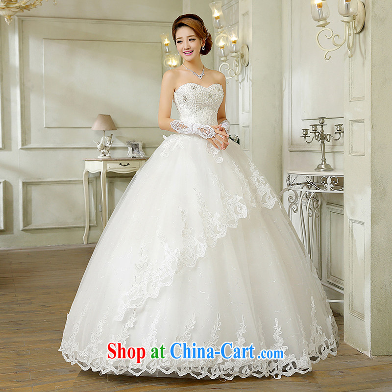 wedding dresses new, summer 2015 Korean fashion the waist panels drill wiped his chest bridal, lace with graphics thin white wedding canopy skirts and white Custom size 7 Day Shipping, and 100 Ka-ming, and shopping on the Internet