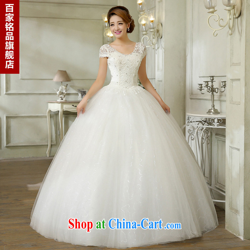 wedding dresses white 2015 new stylish Korean wood drill field shoulder V-neck strap lace graphics thin shoulders wedding marriage with new discount package mail white Custom size 7 day shipping