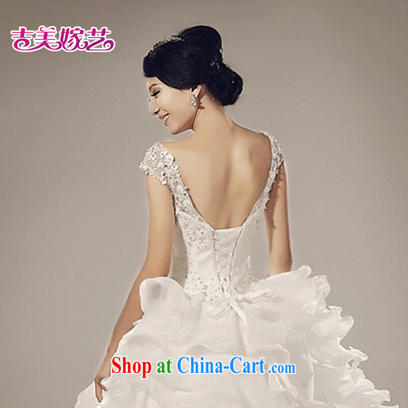 wedding dresses Jimmy married arts 2015 new dual-shoulder bag shoulder Korean Princess dress with 6018 bridal wedding white S, Jimmy married arts, shopping on the Internet