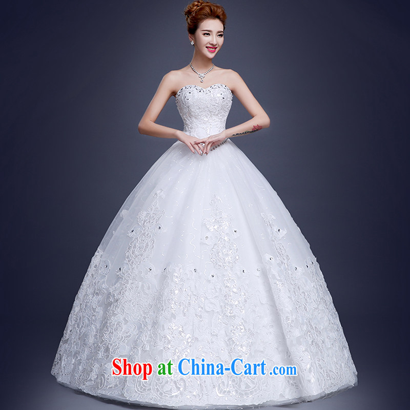 Sophie HIV than marriages wedding dresses summer 2015 new stylish Korean version of the new, integrated with bare chest wedding white elegance with wedding white XXL