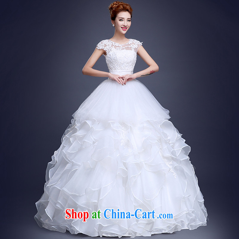 Sophie HIV than the field shoulder wedding dresses summer 2015 new Korean fashion lace wedding bridal marriage with a strap the code graphics thin wedding white XXL