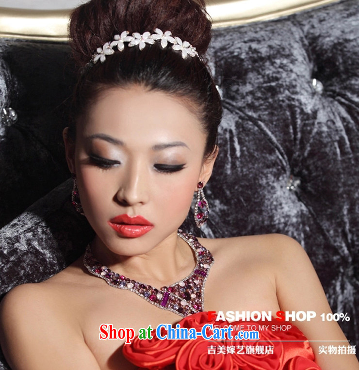 Bridal wedding dresses Accessories Kit Korean link TL 3152 water drilling jewelry 2015 new marriage necklace red ear pin pictures, price, brand platters! Elections are good character, the national distribution, so why buy now enjoy more preferential! Health