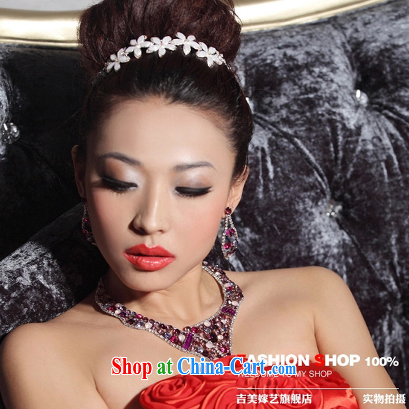 Bridal wedding dresses Accessories Kit Korean link TL 3152 water drilling jewelry 2015 new marriage necklace red ear, Jimmy married arts, shopping on the Internet