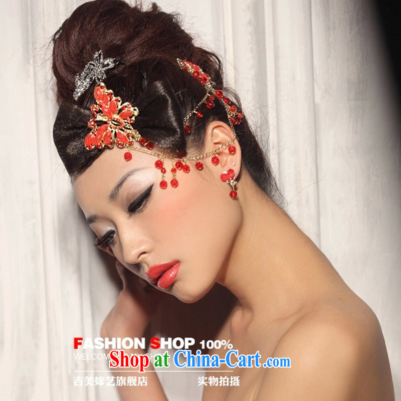 Bridal wedding dresses Accessories Kit Korean brides and flowers TH 2000/2015 new Marriage and take red