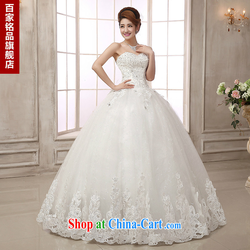 wedding dresses 2015 New Luxury Water drilling upscale car bone lace style wiped off his chest, Princess wedding canopy skirts new promotional game package mail white Custom size 7 day shipping