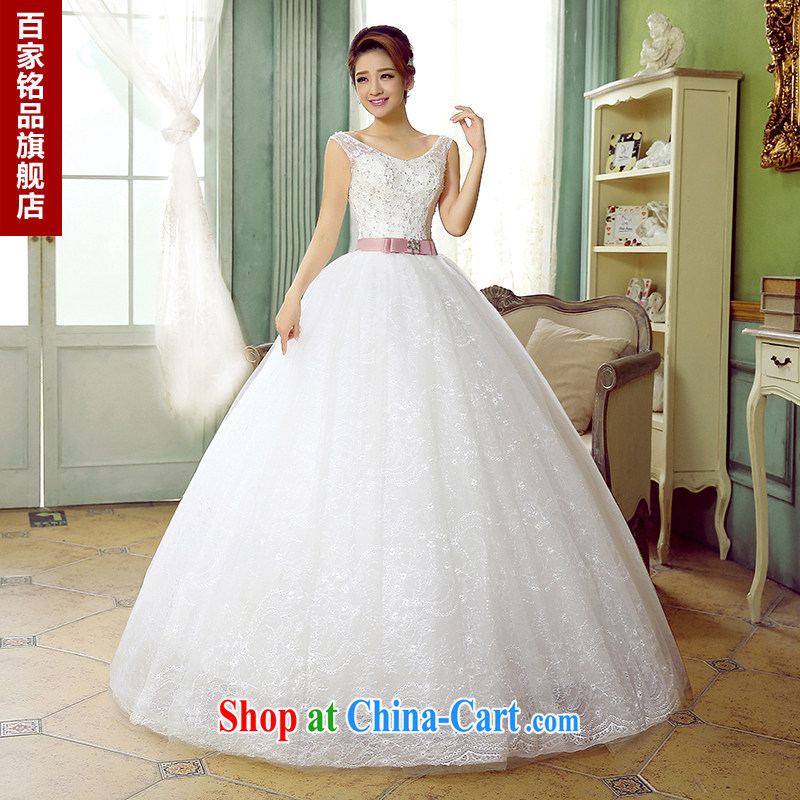 wedding dresses women summer 2015 new Korean sweet lady dual shoulder strap simple and stylish beauty graphics thin sweet Princess white wedding new white custom size 7 day shipping