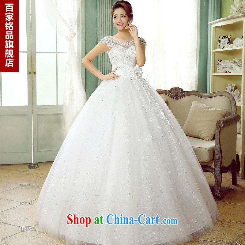 Summer 2015 new wedding dresses female marriages shoulders Korean modern parquet drill lace straps a Field shoulder wedding with, genuine white Custom Size 7 day shipping