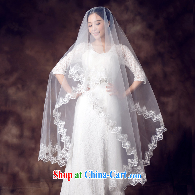 White bridal head dresses wedding dresses 2015 winter new Korean version 3m multi-layer bridal accessories white head yarn white