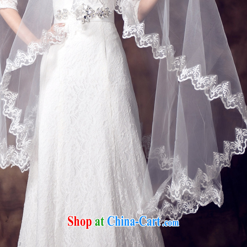 White bridal and legal wedding dresses 2015 winter new Korean version 3m multi-layer bridal accessories white head yarn white, 100, ball (Ball Lily), online shopping