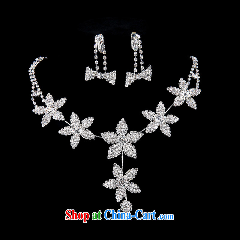 100 the ball snowflake sweet crystal necklace earrings bridal wedding fine jewelry wedding dresses accessories 2015 new wedding jewelry wedding jewelry white