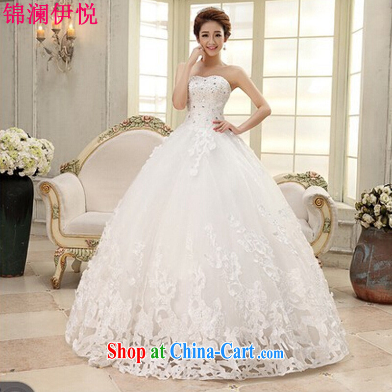 kam world the Hyatt new bride wedding white wedding dresses 2015 new Korean version of aristocratic ladies style sweet and elegant Princess with dress skirt white XL
