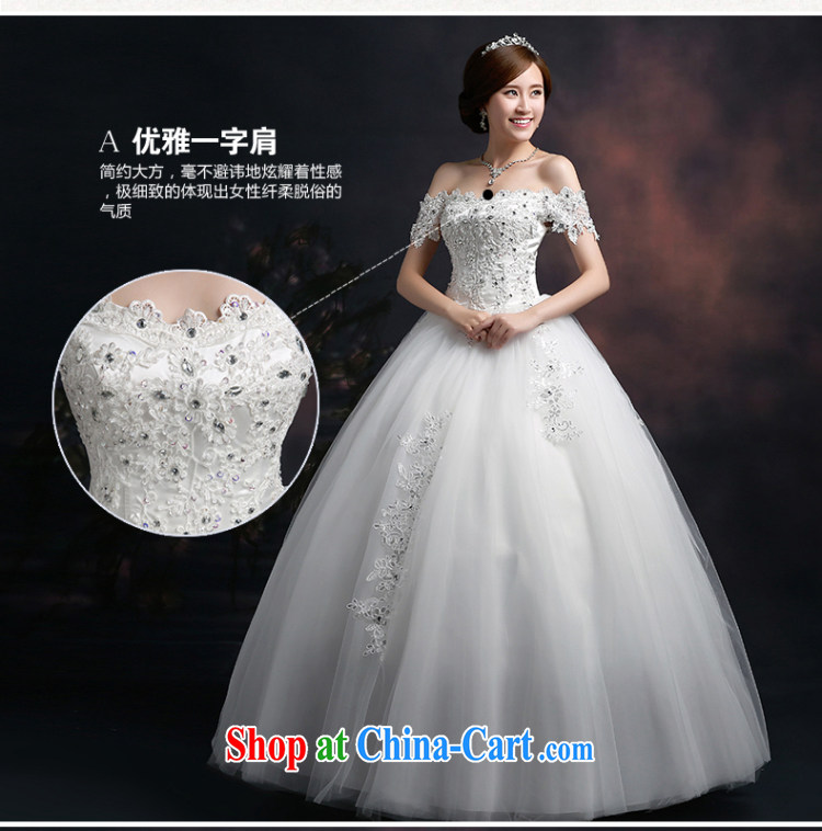 100 the ball 2015 winter new wedding dresses bridal wedding wedding shoulders retro lace wedding a shoulder with a strap graphics thin wedding dresses white L pictures, price, brand platters! Elections are good character, the national distribution, so why buy now enjoy more preferential! Health