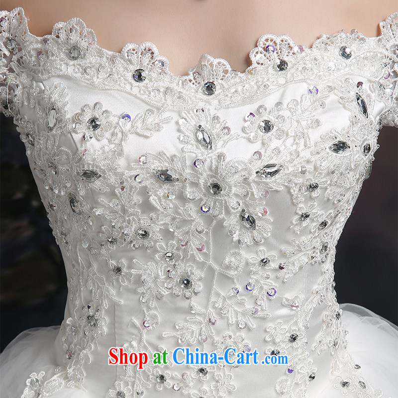 100 the ball 2015 winter new wedding dresses bridal wedding wedding double-shoulder retro lace wedding a shoulder with a strap graphics thin wedding dresses white L, 100-ball (Ball Lily), online shopping