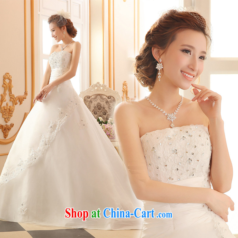 100 the ball wedding dresses summer 2015 new wedding band wedding dresses with bare chest wedding Korean version the trailing white marriages wedding dresses white XXL