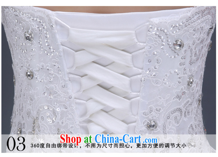 wedding dresses new 2015 summer bridal wedding long-tail large, cultivating wedding Korean fashion erase chest marriage wedding dresses wood drill glass drill white XL pictures, price, brand platters! Elections are good character, the national distribution, so why buy now enjoy more preferential! Health
