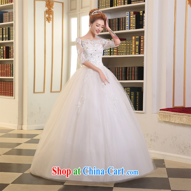 The Vanessa wedding dresses 2015 summer new marriages a Field double-shoulder-length, with shaggy dress white beauty with wedding A field dress girls white XL (white with Princess skirt)