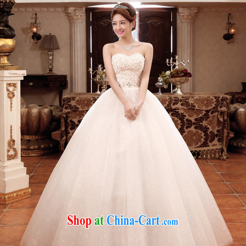 A good service is 2015 new bride wedding dress wiped chest White Graphics thin with large code wedding dress dress white 2XL