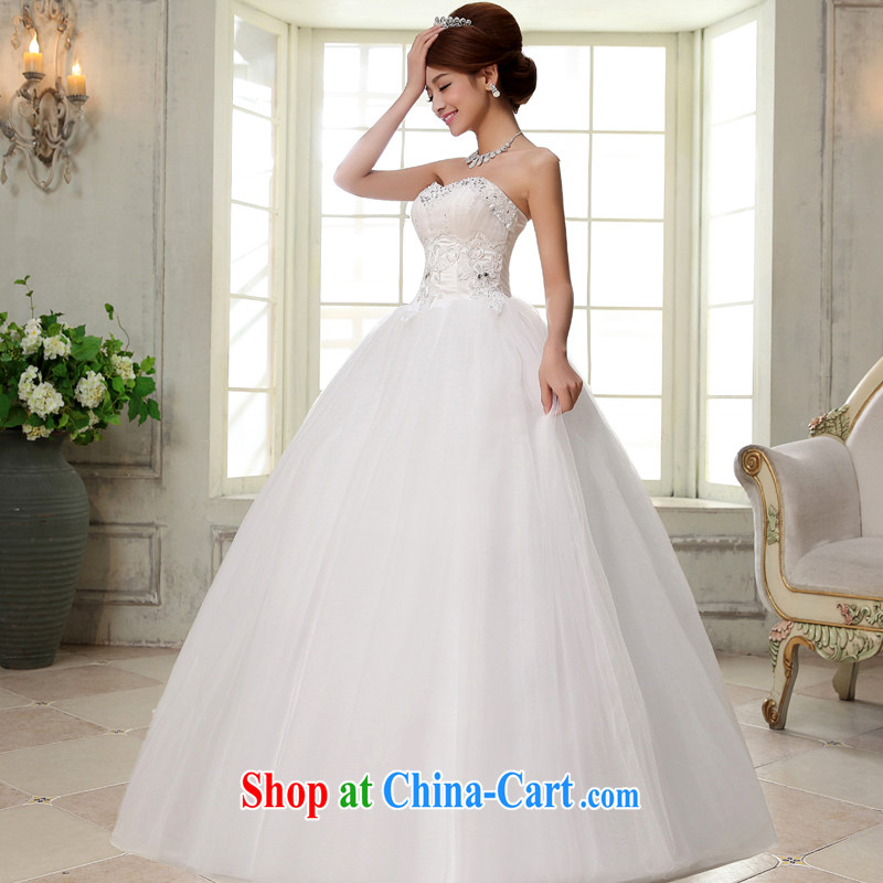 A good service is 2015 new bride wedding dress wiped chest White Graphics thin with wedding dresses white 2XL