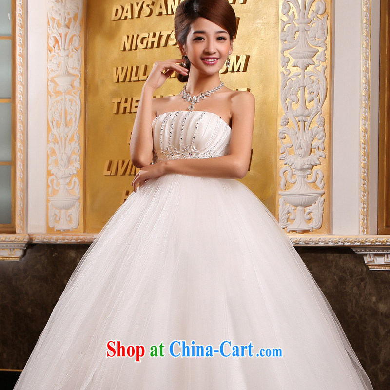 A good service is 2015 new bride wedding dress white Korean high waist pregnant women with wedding dress dress white 6 XL