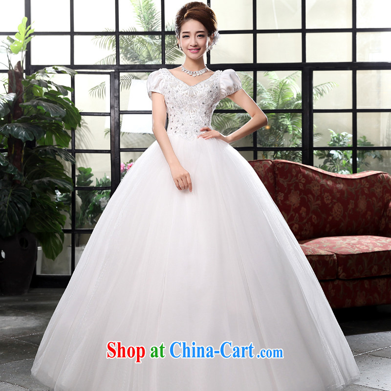 A good service is 2015 new Korean marriages for V Princess beauty with tie wedding dress dress white M