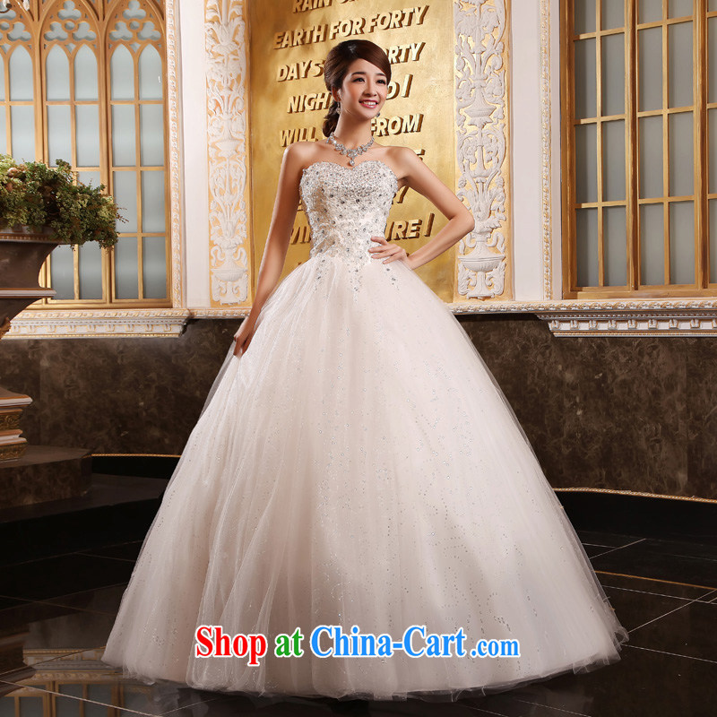 A good service is a Korean-style binding with bare chest wedding canopy skirts with parquet drill cultivating wedding dresses new 2015 white 5 XL
