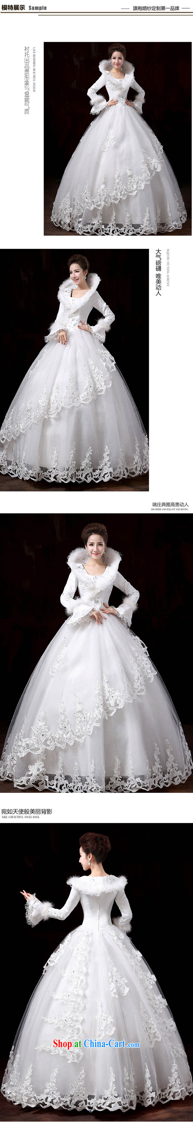 Flower Angel Cayman 2014 winter new Korean wedding dresses with long sleeves and cotton thick marriage warm white wedding canopy skirts XXL pictures, price, brand platters! Elections are good character, the national distribution, so why buy now enjoy more preferential! Health