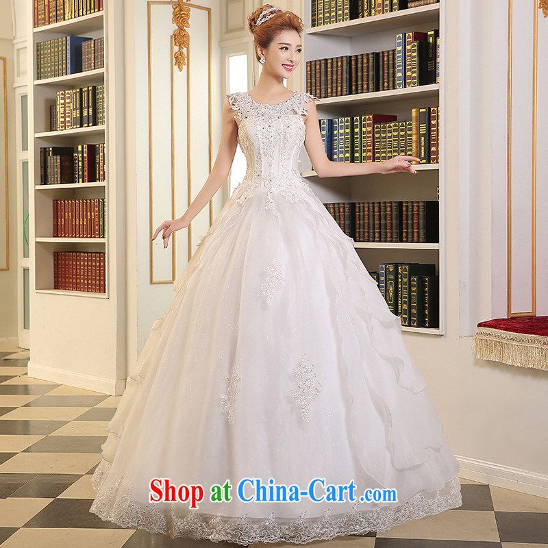 Sophie HIV than marriages wedding dresses new 2015 summer shoulders bare chest graphics thin wedding with strap white attractive lace Bride with white XL