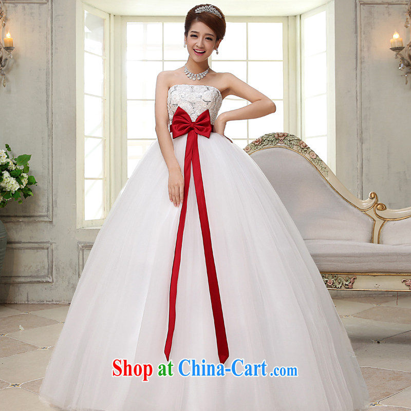 A good service is 2015 new bride Korean high waist maternity wedding dress wiped his chest larger thick mm wedding dress white 6 XL