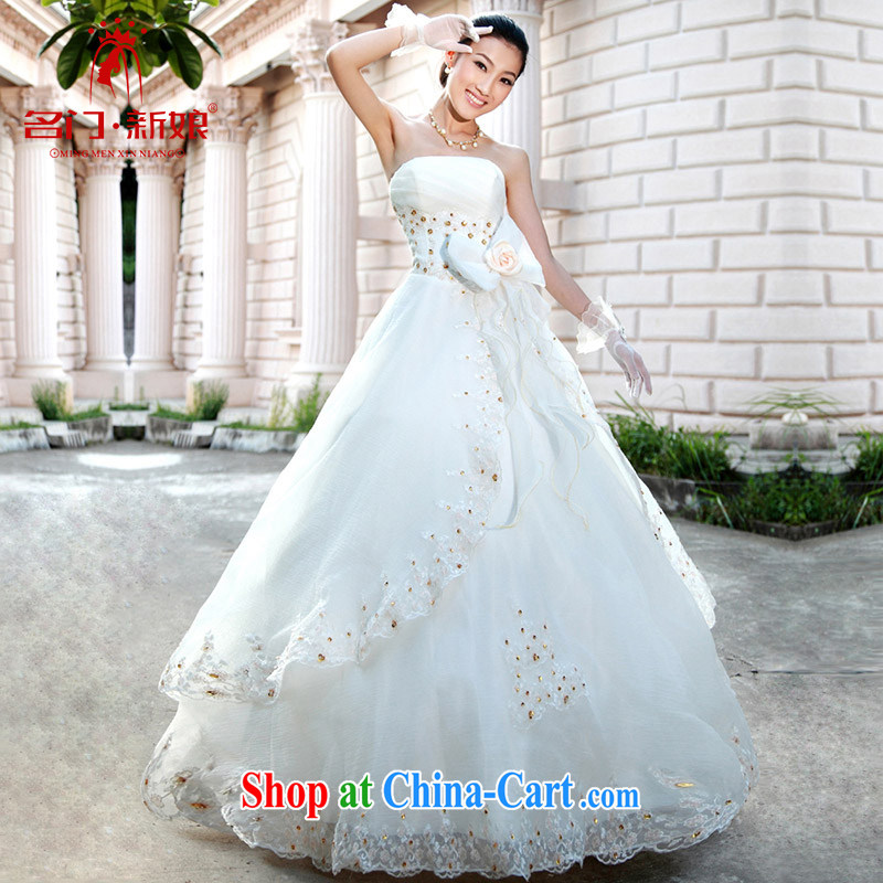 The bride's wedding dresses new 2015 drill manual staple Pearl shaggy Princess wedding 890 with XL