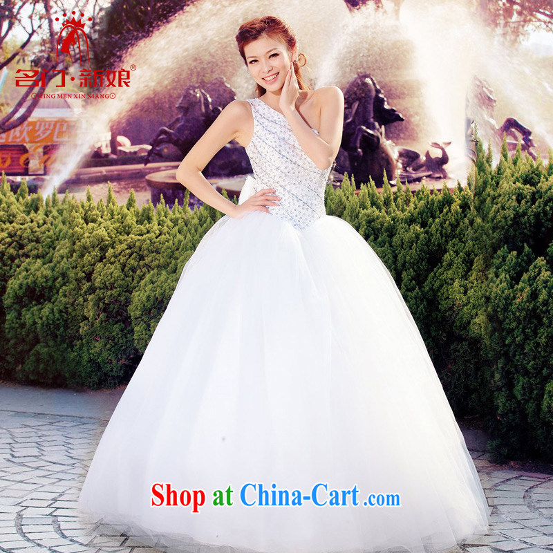 The bride's wedding dresses, shoulder exquisite beaded wedding sweet shaggy Princess wedding new 989 M