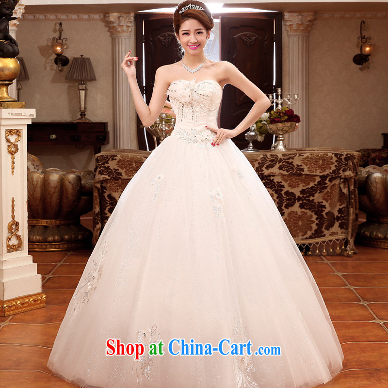 A good service is 2015 new Korean bridal fashion Princess wiped off his chest and sweet wedding dress wedding dress white XXL