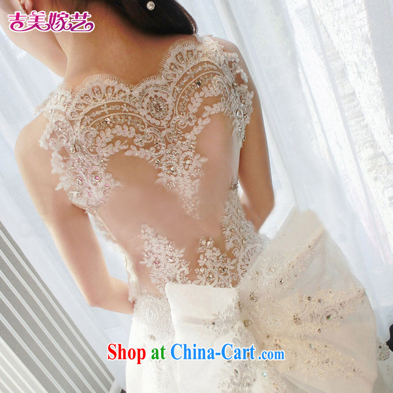 wedding dresses Jimmy married arts 2015 new Korean shoulders, tail HT 7658 bridal wedding with S