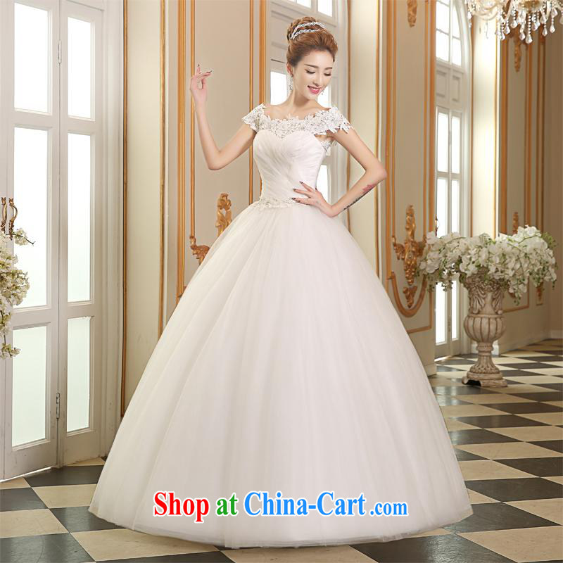 The Vanessa wedding dresses 2015 New Field shoulders wedding band wedding long with wedding white lace beauty graphics thin large code wedding summer female white XL _high lace elegant with_