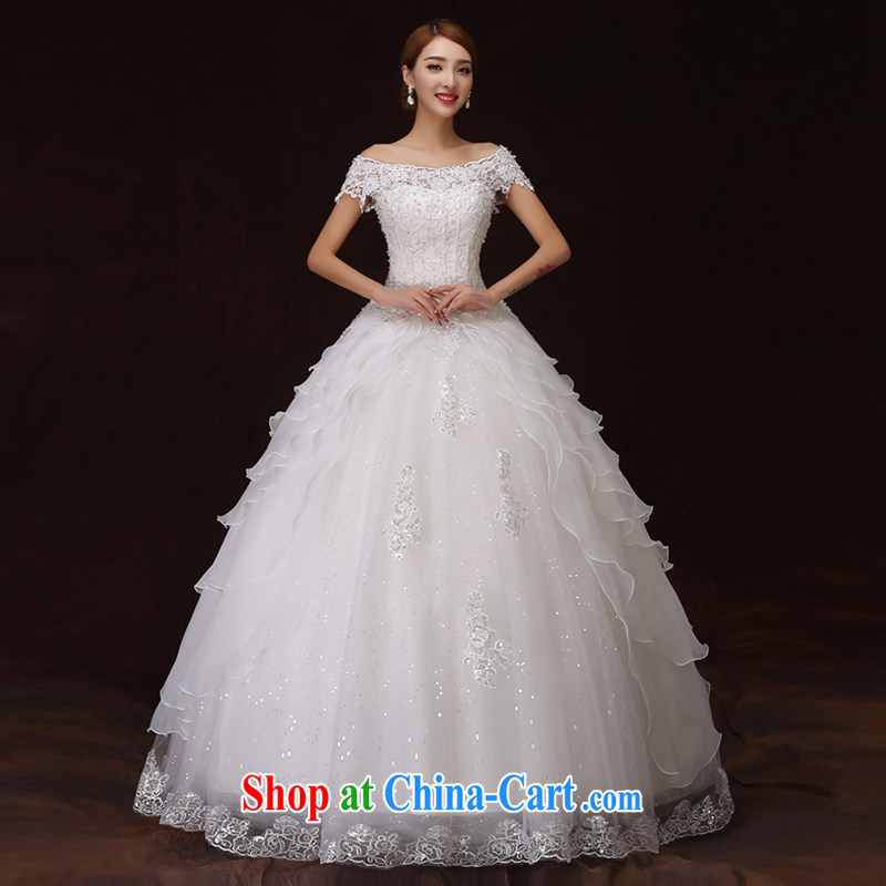 There is embroidery bridal 2015 new retro graphics thin the Field shoulder lace three-dimensional flowers shaggy dress Princess wedding white tailored is not returned.