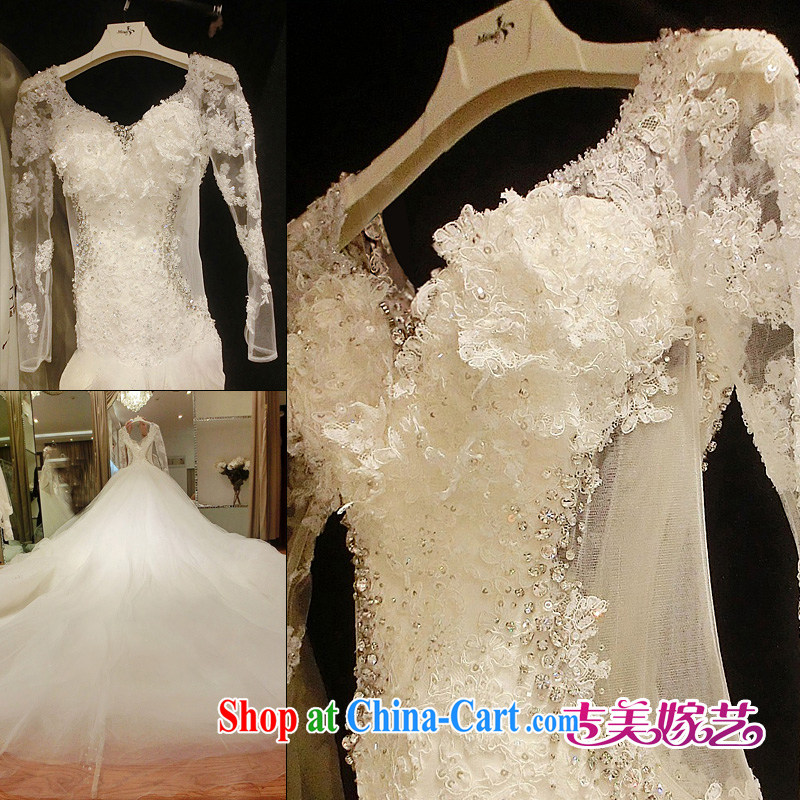 wedding dresses Jimmy married arts 2015 new Korean winter long-sleeved stylish lace-tail 7687 bridal wedding 1.5 M tail XXXL