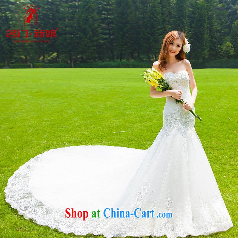 The wedding dresses 2015 new sexy lace crowsfoot erase chest Korean Princess tail wedding 936 L